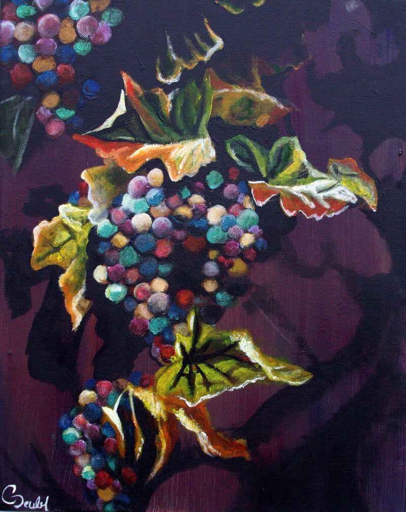Sugarplum Grapes Harvest Painting