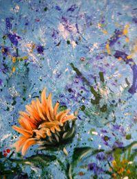 sunflower blossom painting