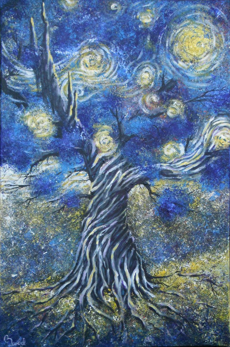 The Seed a tribute to Vincent Van Gogh Starry Night
